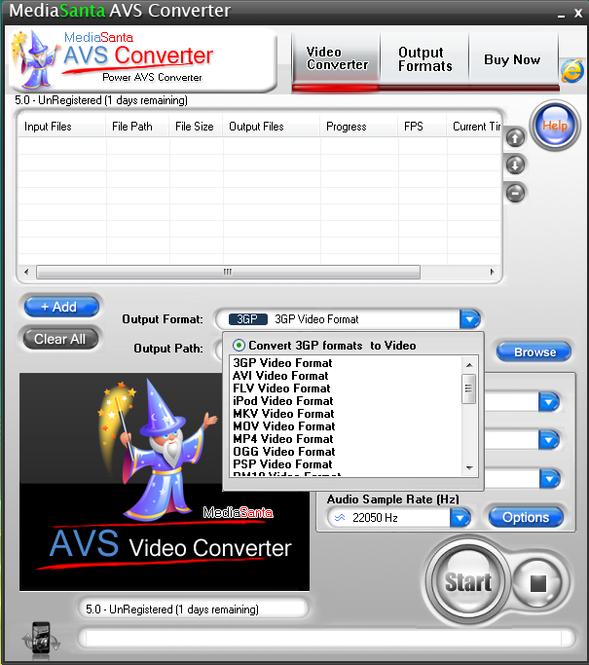 MediaSanta AVS Converter Screenshot