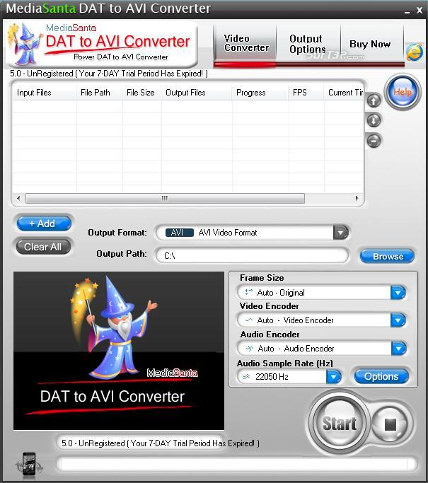 MediaSanta DAT to AVI Converter Screenshot 3