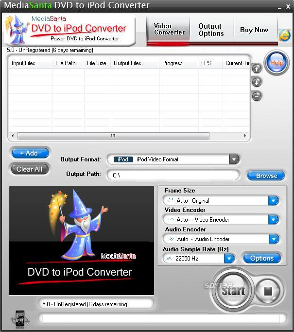 MediaSanta DVD to iPod Converter Screenshot 3