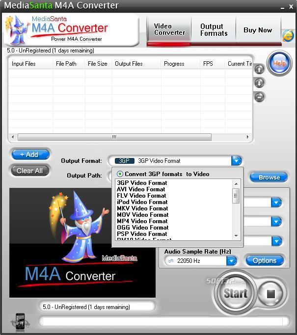MediaSanta M4A Converter Screenshot 2