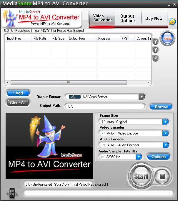 MediaSanta MP4 to AVI Converter Screenshot 3