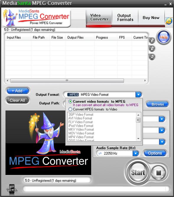 MediaSanta MPEG Converter Screenshot