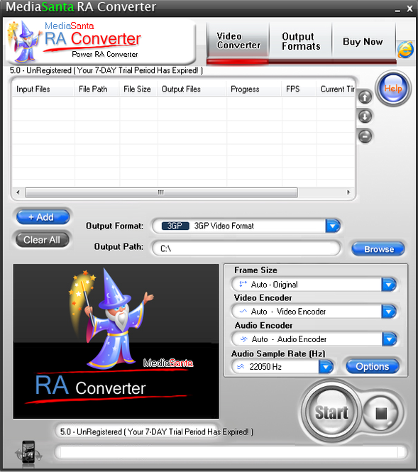 MediaSanta RA Converter Screenshot