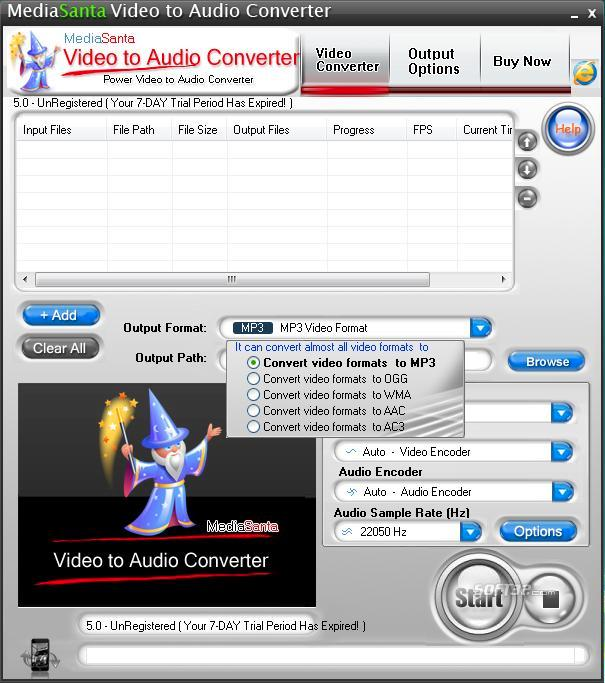 MediaSanta Video to Audio Converter Screenshot 2