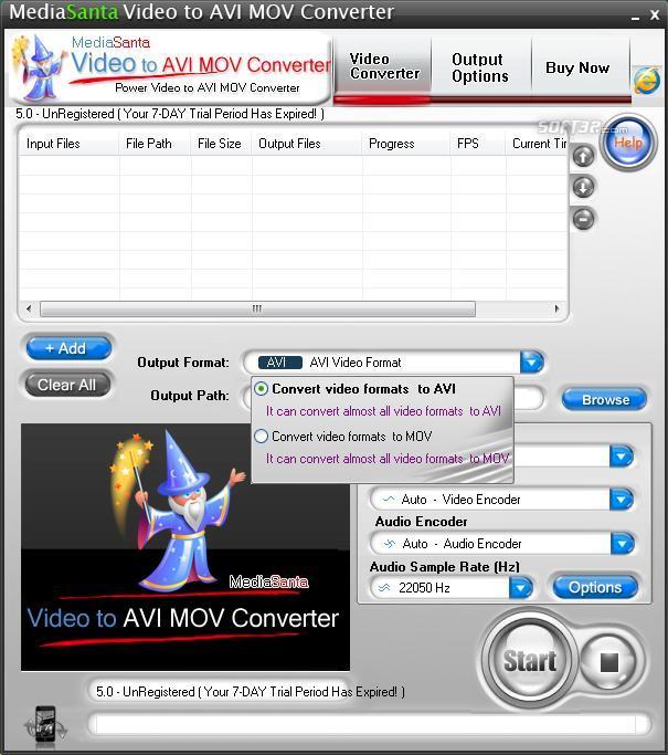 MediaSanta Video to AVI MOV Converter Screenshot 2