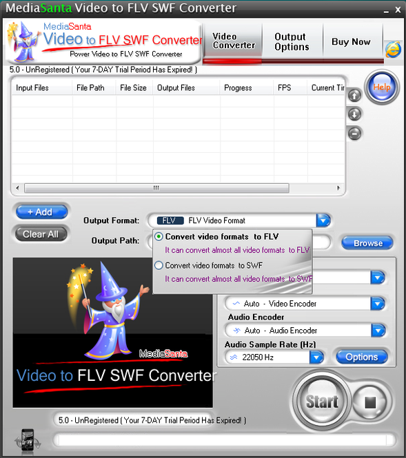 MediaSanta Video to FLV SWF Converter Screenshot