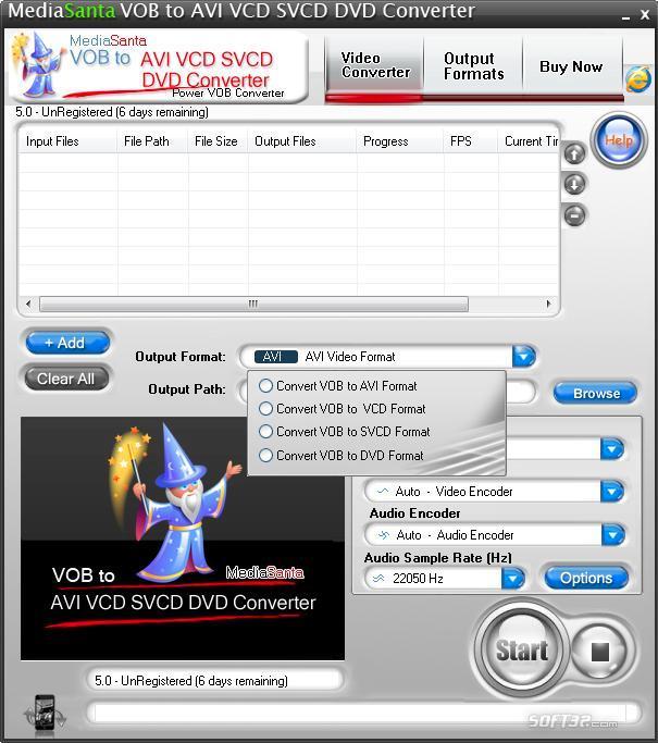 MediaSanta VOB to AVI VCD SVCD DVD Converter Screenshot 2