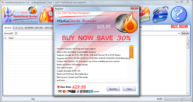 MediaSanta Burner Screenshot