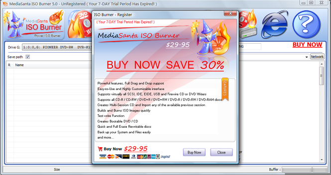 MediaSanta ISO Burner Screenshot