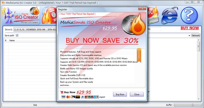 MediaSanta ISO Creator Screenshot