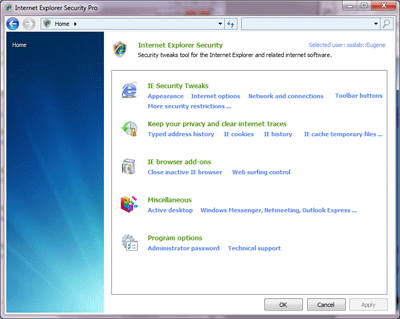 IE Security Pro Screenshot