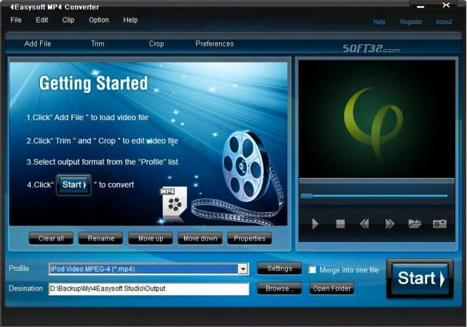 4Easysoft MP4 Converter Screenshot 2