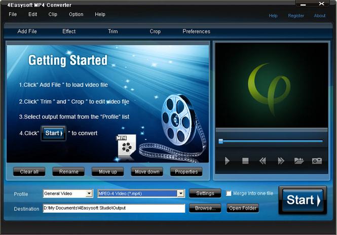 4Easysoft MP4 Converter Screenshot 1