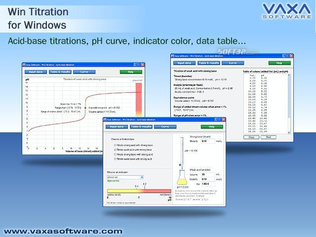 WinTitration. Acid base titration curve Screenshot 2