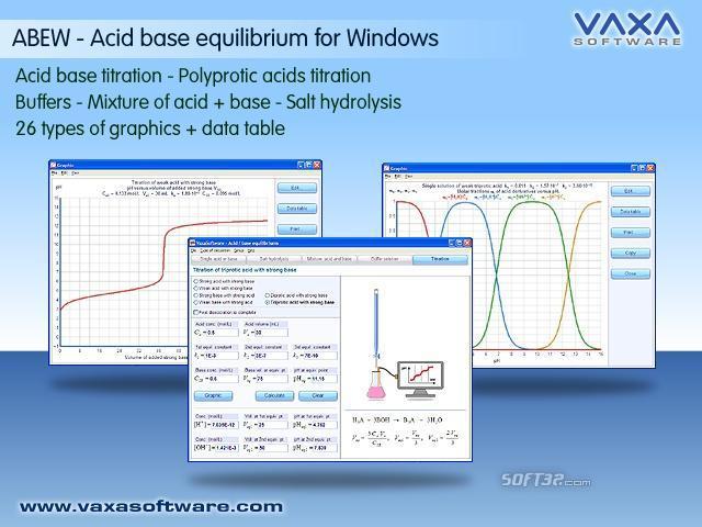 ABEW - Acid base equilibrium for Windows Screenshot 2