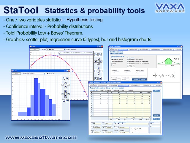 STATOOL Statistic and Probability Tools Screenshot