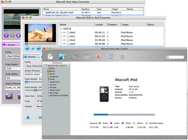 iMacsoft iPod Mate for Mac Screenshot 3