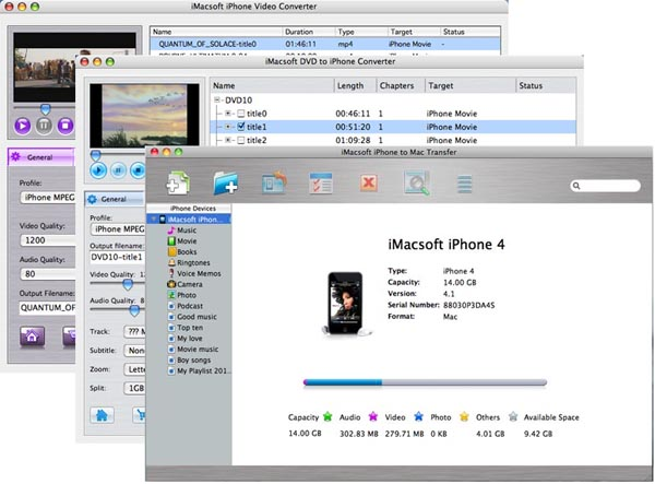 iMacsoft iPhone Mate for Mac Screenshot