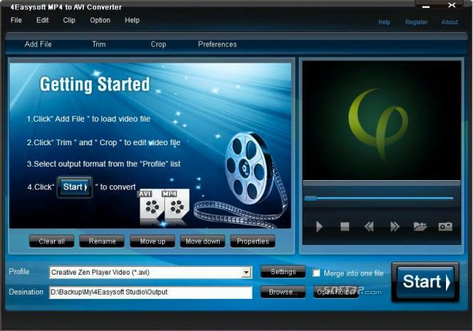 4Easysoft MP4 to AVI Converter Screenshot 2