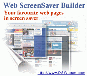 Web Screen Saver Builder Screenshot