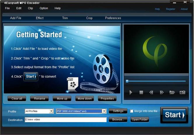 4Easysoft MPG Encoder Screenshot