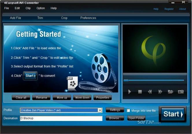 4Easysoft AVI Converter Screenshot 3