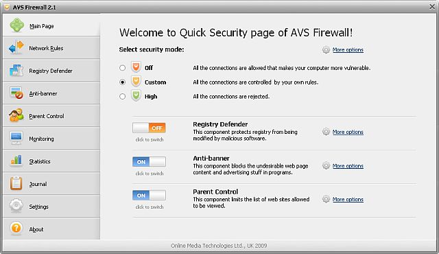 AVS Firewall Screenshot