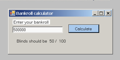 Titan poker calculator Screenshot