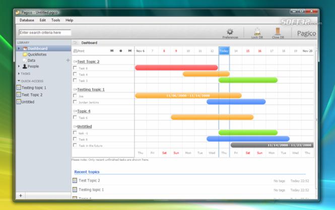 Pagico (Professional) Screenshot 3