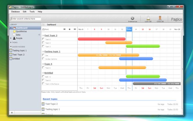 Pagico (Professional) Screenshot 1