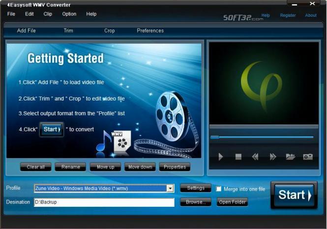 4Easysoft WMV Converter Screenshot 3