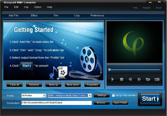 4Easysoft WMV Converter Screenshot