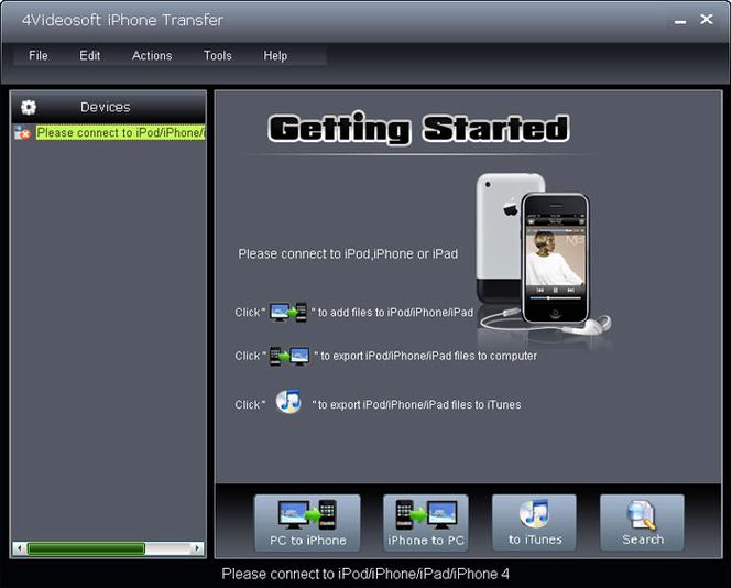 4Videosoft iPhone Transfer Screenshot 1