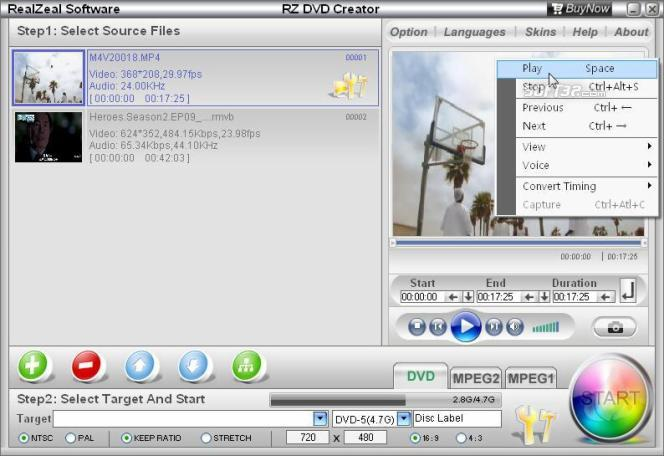 RZ DVD Creator Screenshot 2