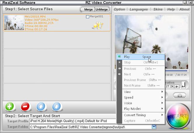 RZ MP4 Converter Screenshot