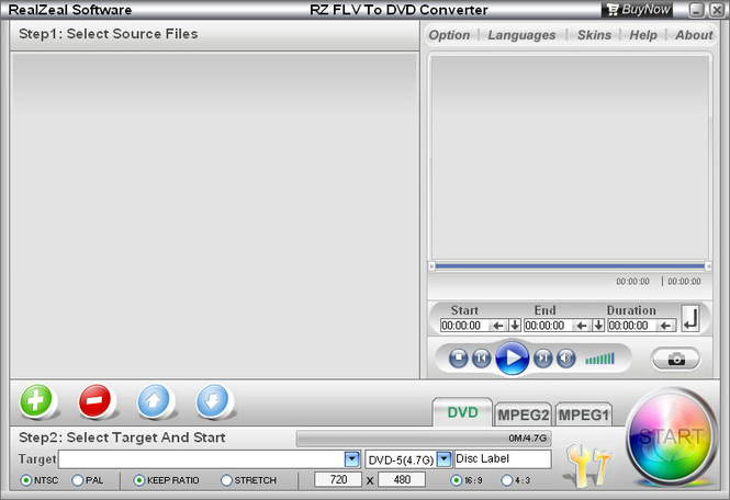 RZ FLV To DVD Converter Screenshot