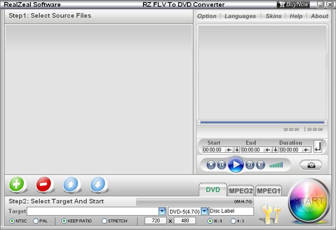 RZ FLV To DVD Converter Screenshot 1