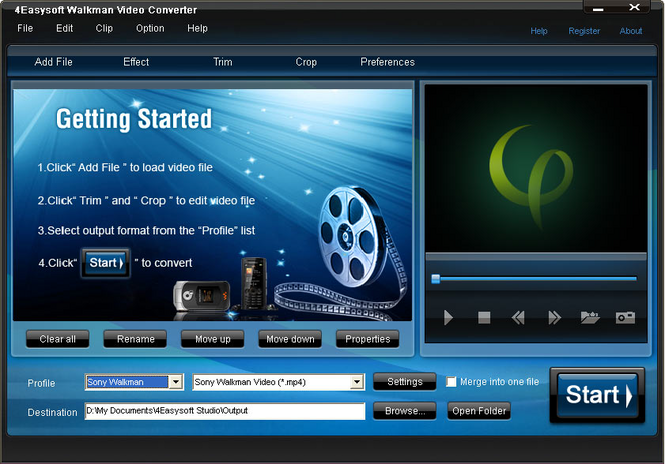 4Easysoft Walkman Video Converter Screenshot 1