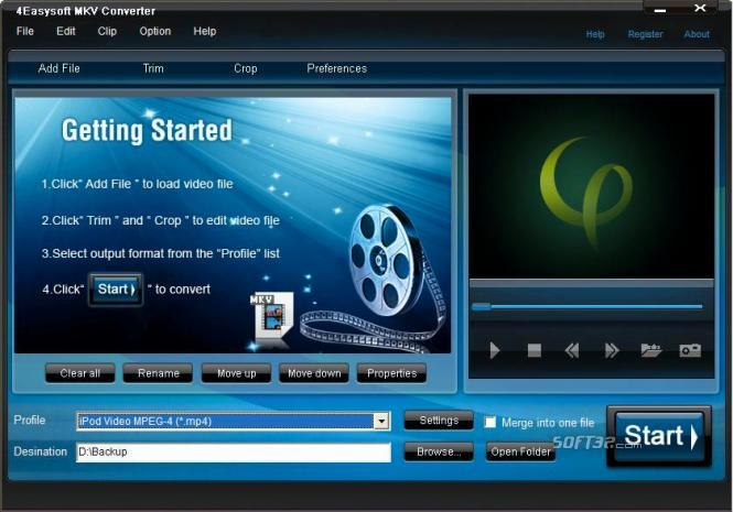 4Easysoft MKV Converter Screenshot 2