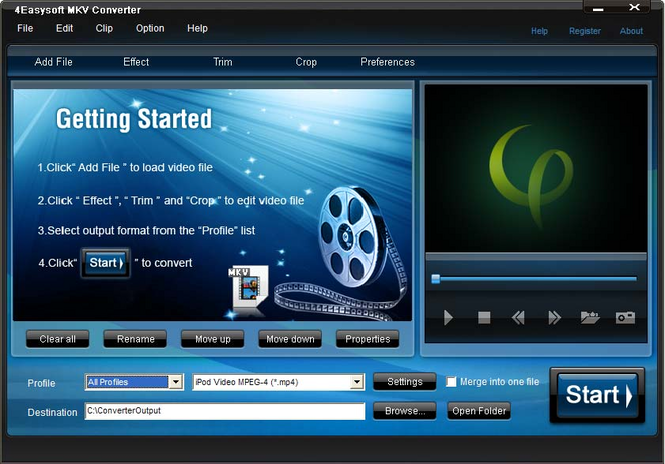 4Easysoft MKV Converter Screenshot 1