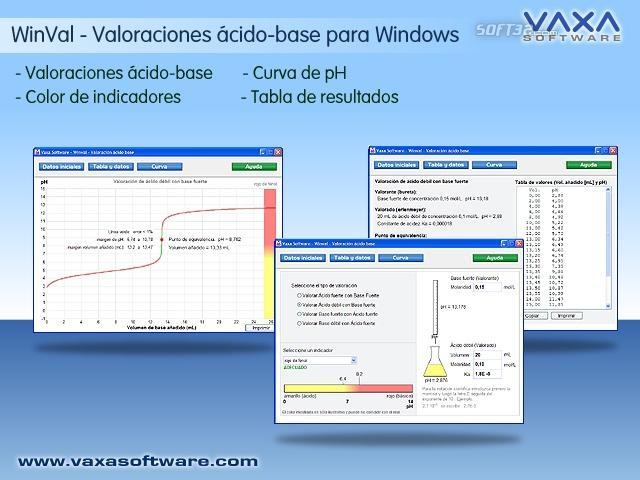 WinVal. Valoracion acido base Screenshot 2