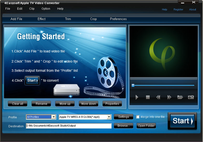 4Easysoft Apple TV Video Converter Screenshot