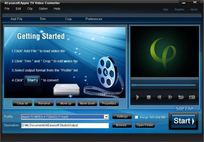 4Easysoft Apple TV Video Converter Screenshot 2