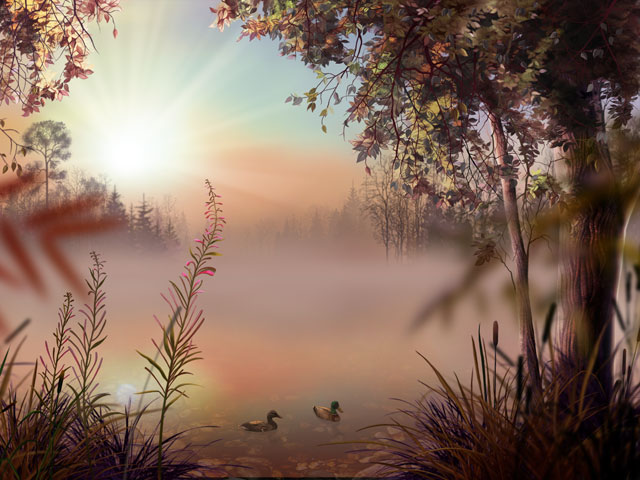 Fog Lake Screensaver Screenshot