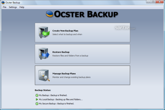 Ocster Backup Free Screenshot 2