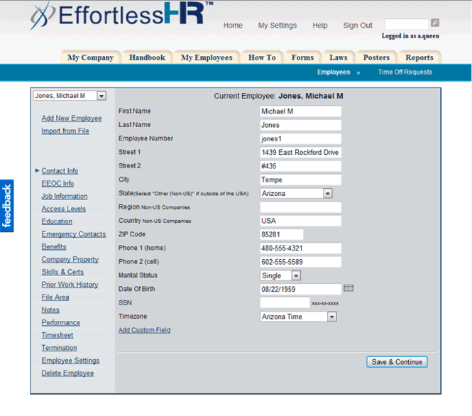 Effortless HR Software Suite Screenshot 2