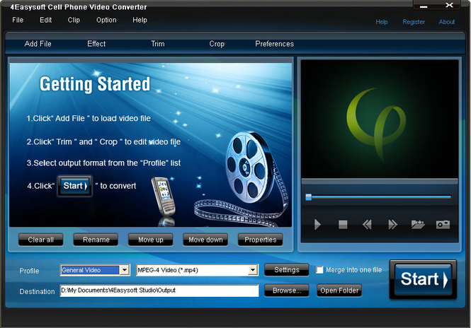 4Easysoft Cell Phone Video Converter Screenshot 1