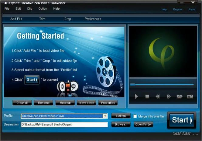 4Easysoft Creative Zen Video Converter Screenshot 3