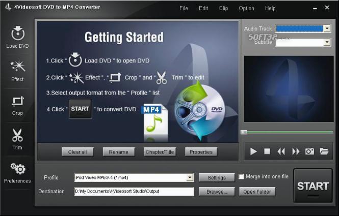 4Videosoft DVD to MP4 Converter Screenshot 2