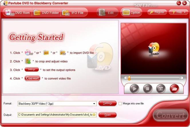 Pavtube DVD to blackberry Converter Screenshot 3